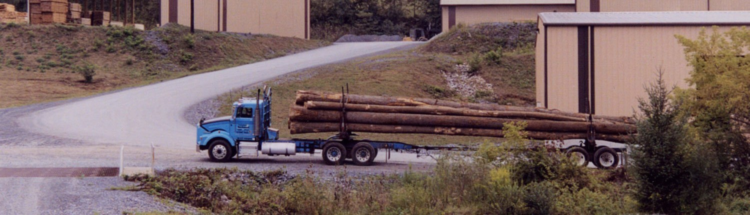 Transporting Hardwood Logs