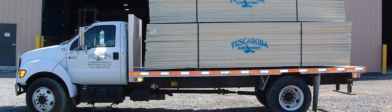 Hardwood Lumber Loaded for Transport