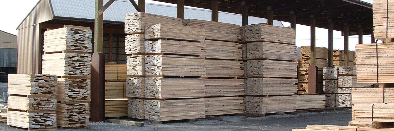 Stacks of Hardwood Lumber